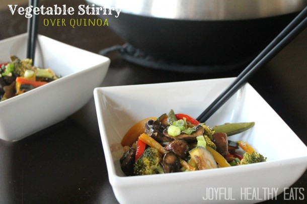 Vegetable Stir Fry over Quinoa