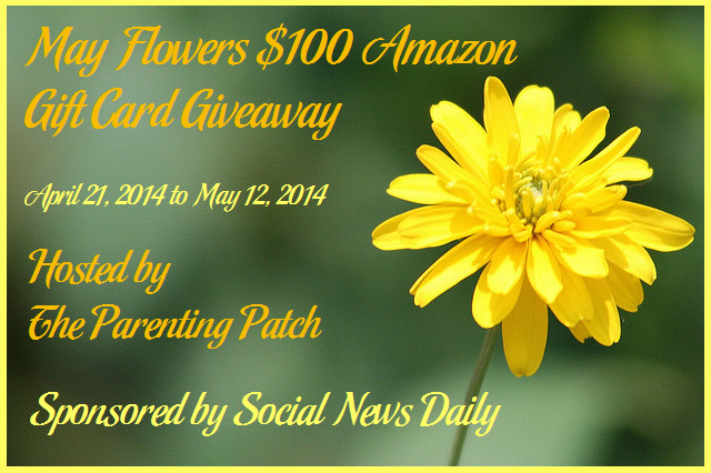 2014-04-21 May Flowers $100 Amazon Gift Card Giveaway