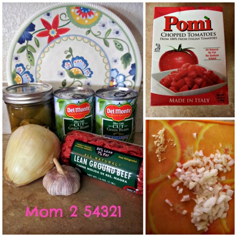 Ingredients for Chile con Carne with Green Beans
