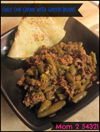 One Pot Meal Chile con Carne with Green Beans