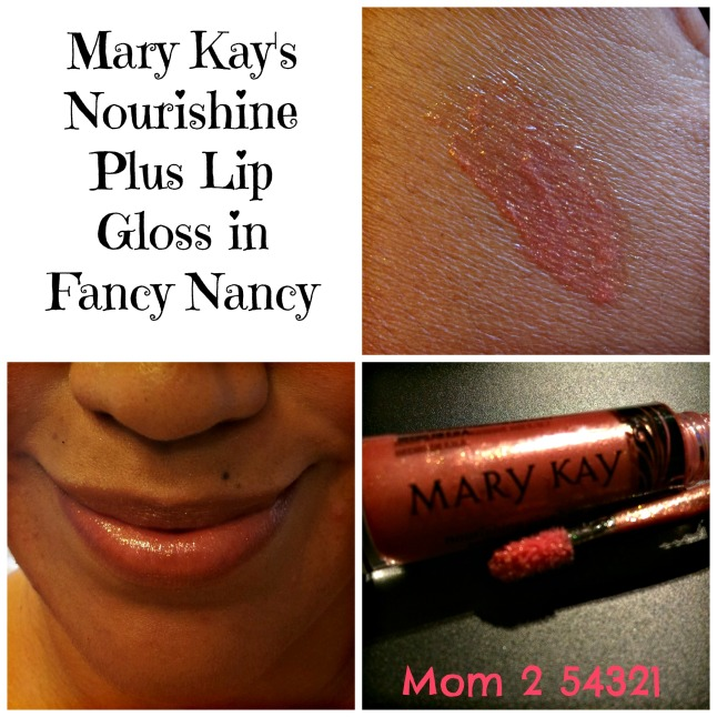 Mary Kay's Nourishine Plus Lip Gloss in Fancy Nancy Review by Mom 2 54321