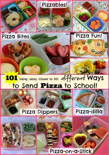 Over 50 different FUN ways to skip the cafeteria and send pizza to school!