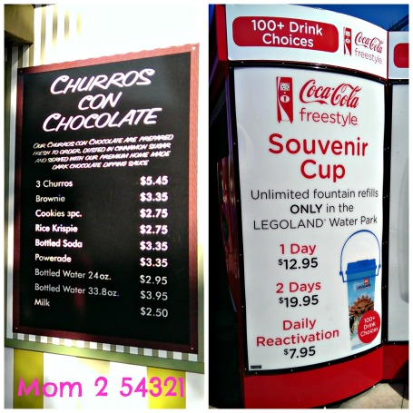 Legoland Snacks and Drink Prices