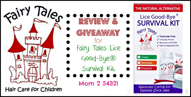 Fairy Tales Lice Good-Bye® Survival Kit Review Giveaway