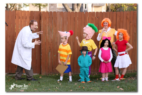 phineas and ferb family group costume