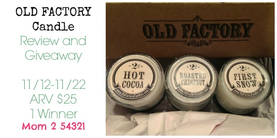 Old Factory Candle Giveaway